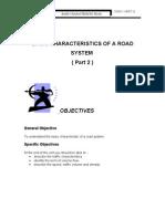 Unit 12 ( BASIC CHARACTERISTICS OF A ROAD SYSTEM  ( Part 2 )  )
