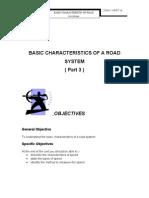 Unit 13 ( BASIC CHARACTERISTICS OF A ROAD SYSTEM ( Part 3 ) )