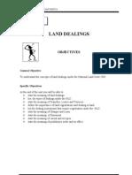 Unit 5 ( LAND DEALINGS )