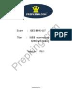 Prepking BH0-007 Exam Questions