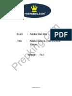 Prepking 9A0-062 Exam Questions