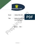 Prepking 9A0-063 Exam Questions