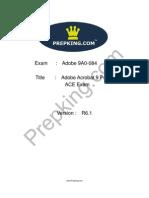 Prepking 9A0-084 Exam Questions