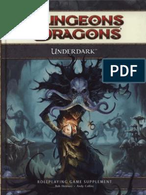 D&D 4E Underdark   Drow (Dungeons & Dragons)   Dungeons & Dragons
