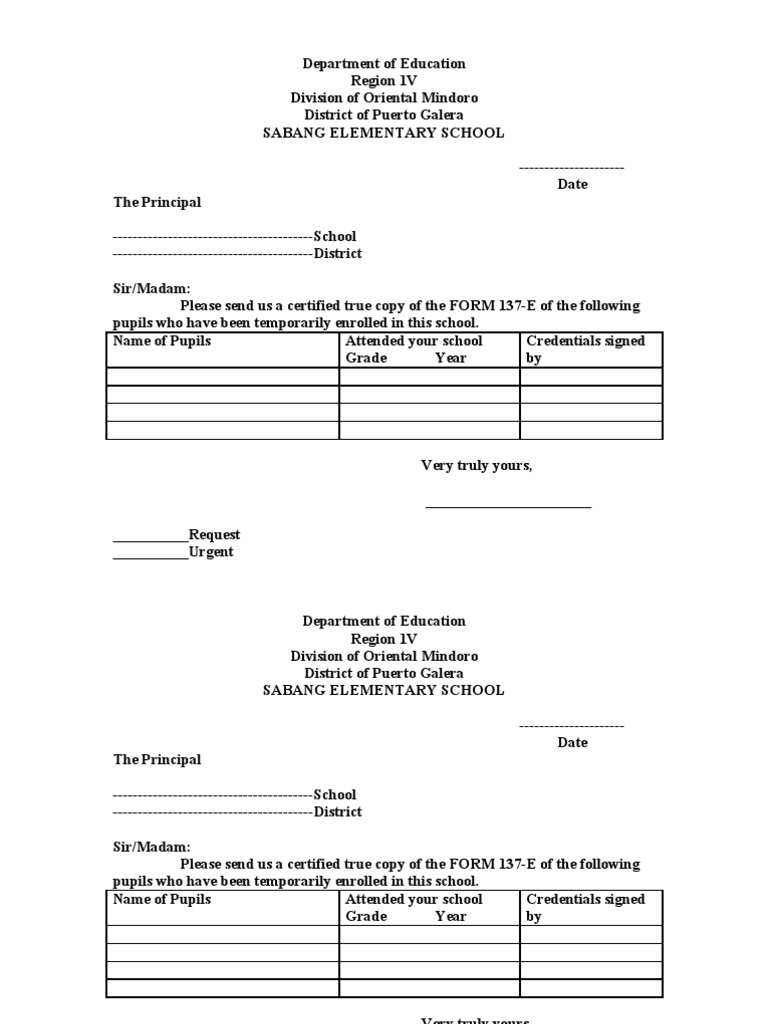 Request Letter For Deped request form chrisfrusa deped national – Letter Request Form