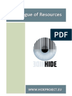 HIDE - (Biometrics) Catalogue of Resources