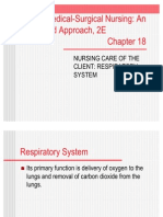 Chapter 18 Respiratory System