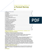 Designing a Formal Survey