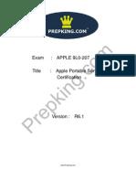 Prepking 9L0-207 Exam Questions