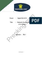 Prepking 9L0-615 Exam Questions