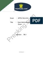 Prepking 9L0-616 Exam Questions
