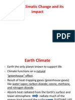 Global Climatic Change and Its Impact