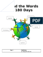 Around the Word in 180 Days - Word of the Day Sheets WITH Definitions for 1st 2 Weeks