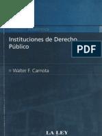 Instituciones de Derecho Publico - Walter f. Carnota