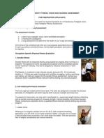 York University Firefighter Fitness Assessment