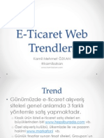 E-Ticaret Web Trendleri Sunum