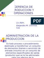 Gerencia de Produccion y Operaciones - 2011-1