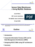 Sensor Data Warehouse Design March 14 2005 MySQL Conf