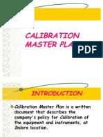 Calibration Master Plan