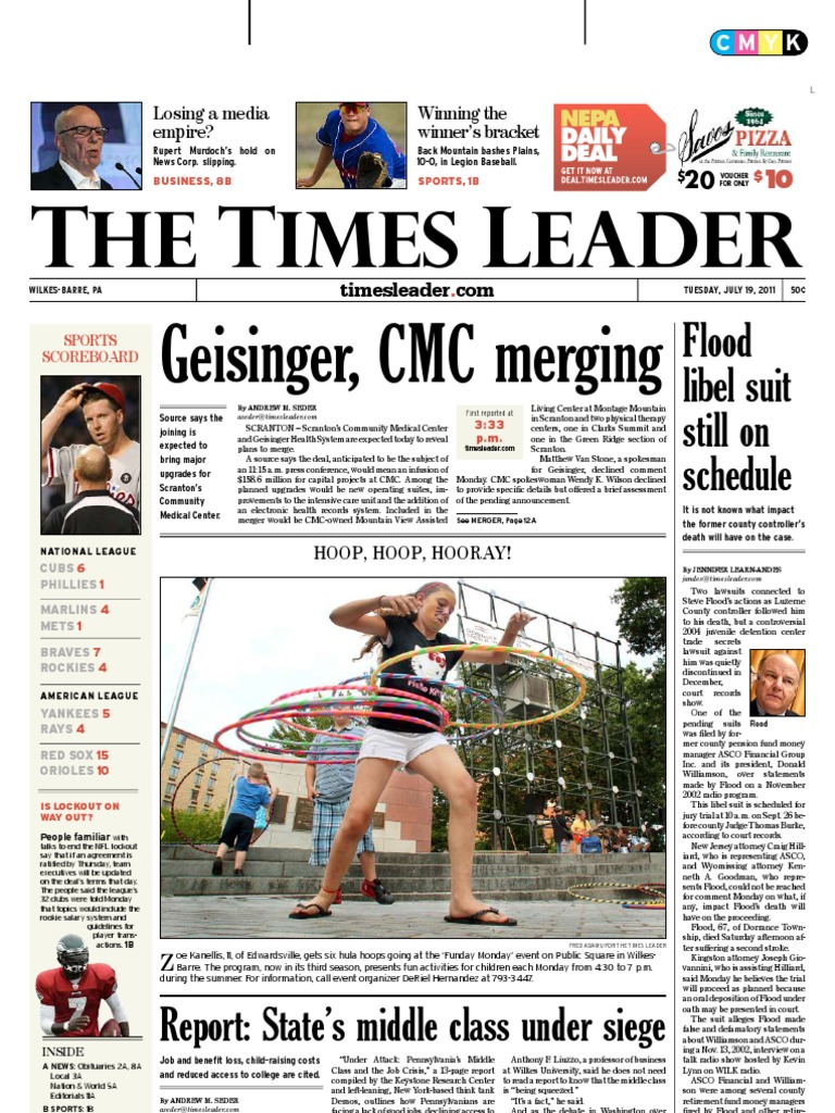Times Leader 07-19-2011 | David Petraeus | Workers\' Compensation