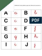 Juego abecedario para Infantil
