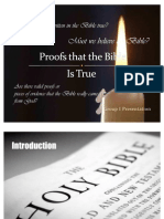 Proofs That the Bible