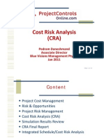 PCO - Cost Risk Analysis (CRA) - Pedram Daneshmand