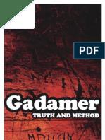 15280211 HansGeorg Gadamer Truth and Method 082647697X 2005