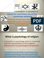 Psychology of Religion. ATP 2011