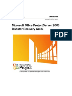 Project Server 2003 Disaster Recovery Guide