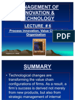 LECTURE #6 -Process Innovation, Value Chains & Organization UPDATED