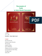 *The Jewels of Faith in the Holy Month of Ramadān*