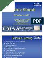 Updating a Schedule