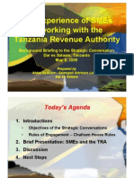 Relationship between the Tanzania Revenue Authority and SMEs (8May09)