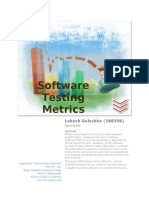188356 Software Testing Metrics