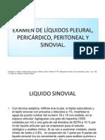 Examen de Lquidos Pleural, Pericrdico Peritoneal