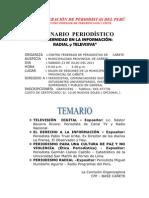 TEMARIO - SEMINARIO