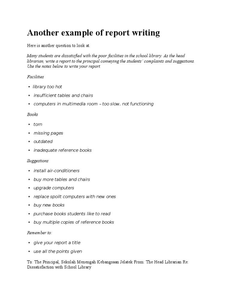 Report Writing Example  PDF  Libraries  Computing