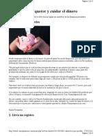 10 Formas de Cuidar Tu Dinero