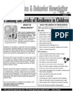 April-May - Healthy Brains and Behavior Newsletter b&w - Spring 2011