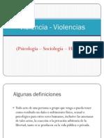 Violencia - Violencias