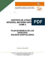 Plan de Manejo de Los Desechos Solidos Hospitalarios
