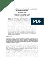 Padrões de Qualidade para a Garantia da Confiabilidade de Produto de Software