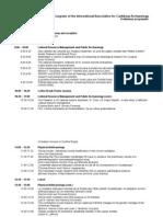 Programme du colloque d'archéologie AIAC Juillet 2011