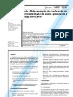 NBR13292[1995]-Solo-Determinação do coeficiente de permeabilidade de solos granulares à carga con