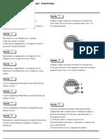Lista de Exercícios - Embriologia