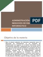 Administración de negocios de equipo informático - L.I. Adrian Gamael Trejo Uco