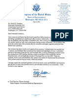 U.S. Rep. Betty Sutton's letter of support for post office