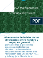 DIFERENCIAS PSICOBIOLÓGICA ENTRE HOMBRE Y MUJER