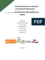 Manual de procedimientos para manejo de madera proveniente del proyecto